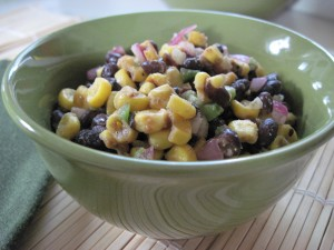 black bean and roasted corn relish