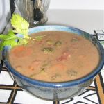 ginger peanut soup from brokeassgourmet.com